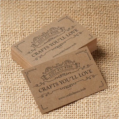 BUSINESS CARDS - Brown Kraft